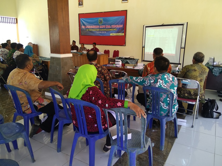 Pra Musrenbang RKPD Kabupaten Kebumen di Kecamatan Karangsambung Tahun 2019